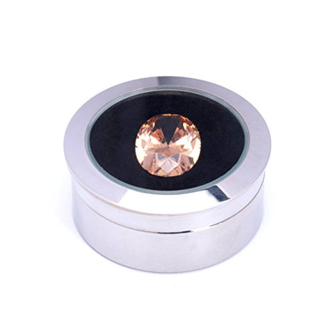 Small Loose Diamond Or Gemstone Display Box Case Holder Show Container Metal(Silver)