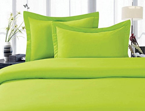 Elegant Comfort 1500 Thread Count Wrinkle,Fade And Stain Resistant 3-Piece Bed Sheet Set, Deep Pocket, Hypoallergenic - Twin/Twin Xl Lime