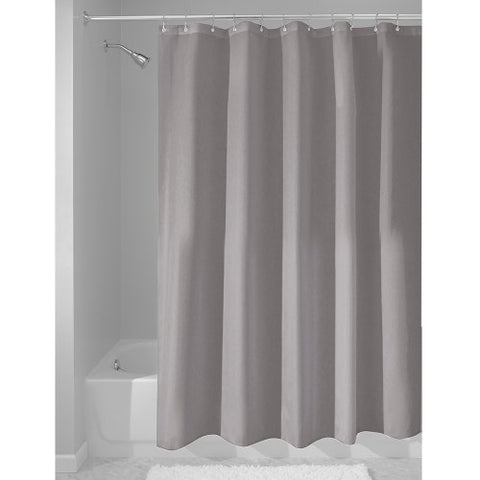 Interdesign Fabric Waterproof Shower Curtain Liner,72 By 72 Inches, Gray