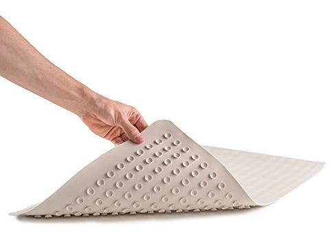 Epica Anti-Slip Machine Washable Anti-Bacterial Bath Mat 16 X 28 Natural Rubber
