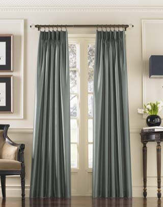 Curtainworks Marquee Faux Silk Pinch Pleat Curtain Panel, 30 By 108, Teal