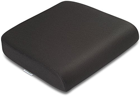 Extra-Large Travelmate Seat Cushion (Size: 19 X 17 X 3 Inches. Color Black)