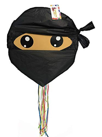 Apinata4U 16  Ninja Pinata Black Color With Pull Strings