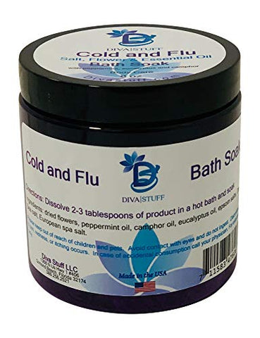 Cold And Flu Season Bath Tea Soak With Epsom Salts, Dried Flowers And Essential Oils
