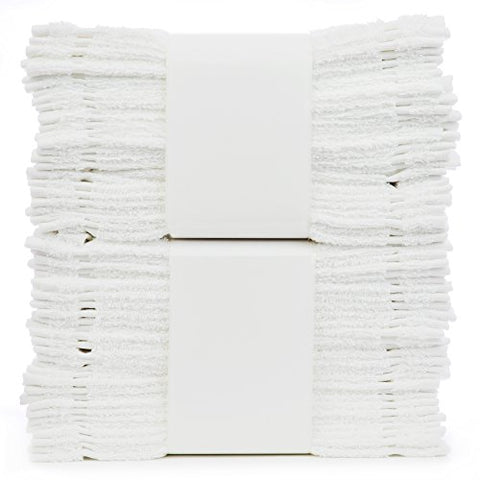 Bare Cotton #1 White Wash Cloths, 100% Natural Cotton, 12 X 12, Commercial Grade,