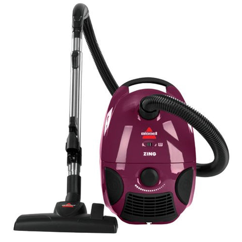 Bissell Zing Bagged Canister Vacuum, Purple, 4122 - Corded