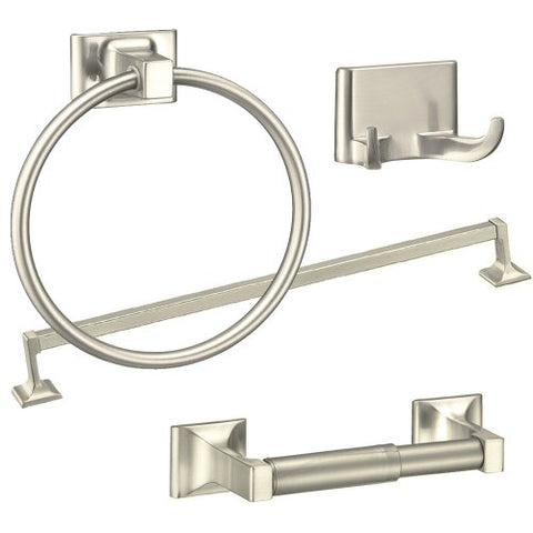 Randall Series 4-Piece Bath Accessories Set, Brushed Nickel