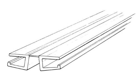 Clear Pvc Living Hinge With Bottom Groove, Fits 1/4 Material - Pick: Length (1-1/4 X 6Ft)