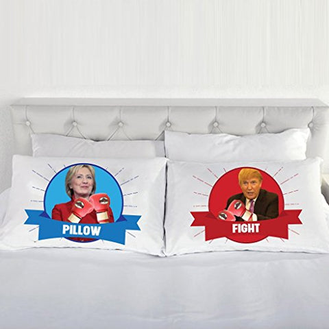 Clinton Trump Pillow Fight Pillow Cases