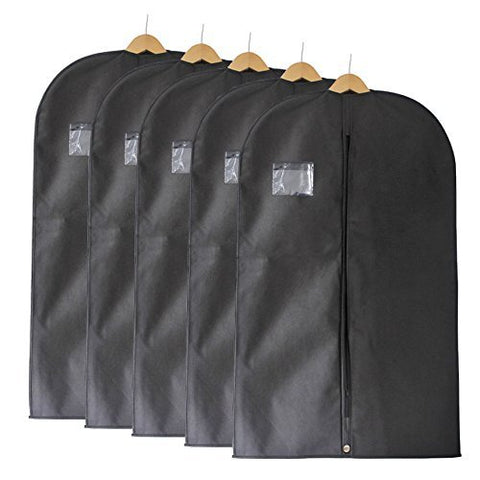 Fu Global Garment Bag Covers For Luggage, Dresses, Linens, Storage Or Travel 42 Suit Bag With Clear Window