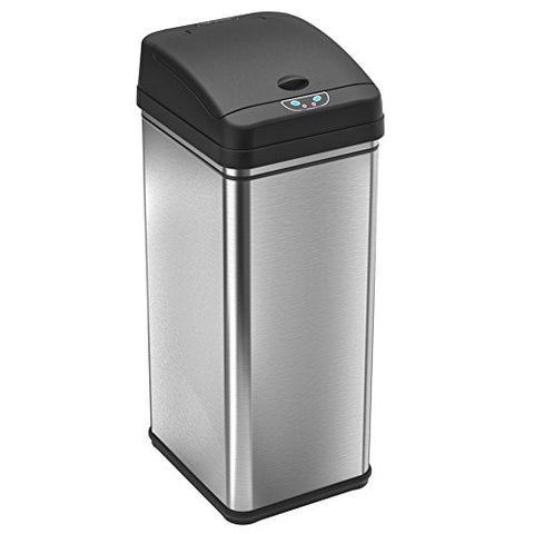 Itouchless Deodorizer Automatic Sensor Touchless Trash Can, 49 Liter / 13 Gallon, Stainless Steel