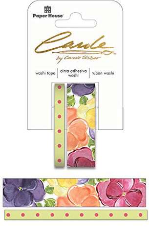 Paper House Productions Washi Tape, Pansies, None 2 Piece