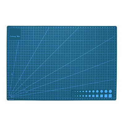 A3/4/5 Pvc Cutting Mat Double-Sided Self Healing Cutting Board Fabric Leather Craft Diy Cutting Pad Quilting Accessory 45Cmx30Cm - A3 Blue