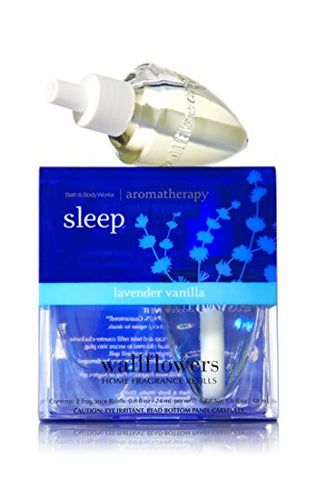 Bath And Body Works Aromatherapy Sleep Lavender Vanilla Wallflowers Refills (1.6 Fl Oz Total)