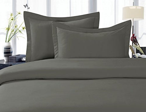 Elegant Comfort 1500 Thread Count Wrinkle,Fade And Stain Resistant 4-Piece Bed Sheet Set, Deep Pocket, Hypoallergenic - Full Grey
