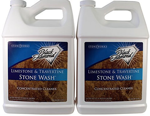 Black Diamond Stoneworks Limestone And Travertine Floor Cleaner: Natural Stone, Marble, Slate, Honed Or Tumbled. 2- Gallon Concentrate Ph Neutral