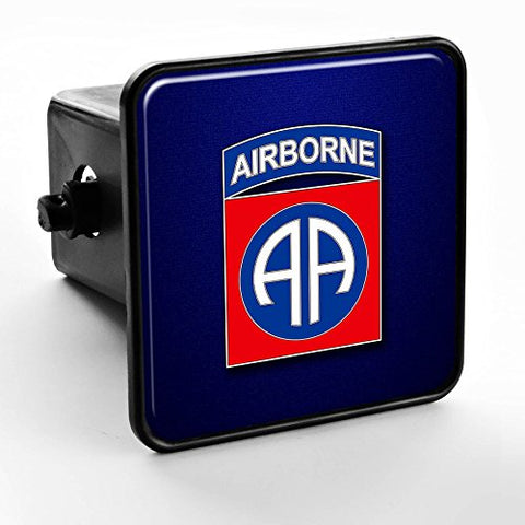 Trailer Hitch Cover - Us Army 82Nd Airborne Division, Combat Service Id Badge