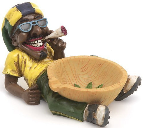 1 X Jamaican Man Holding Ashtray (Lt46) By Fujima