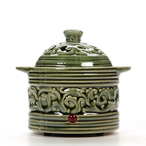 Hosley Candle Company Green Electric Potpourri Warmer