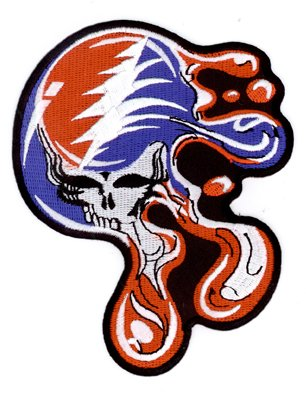 Gdp Inc., - Grateful Dead Melting Steal Your Face - Best Quality, Large - 4  X 5  - Embroidered Patch