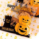 Generic 100Pcs Cellophane Treat Bags Cookie Candy Bags Self Adhesive Party Halloween