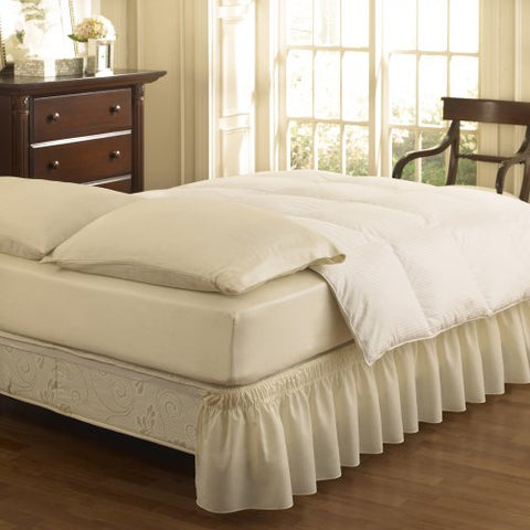 Easy Fit Ruffled Solid Bed Skirt, Queen/King, Ivory