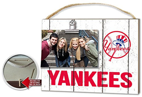 Kh Sports Fan 10 X 8  New York Yankees Clip It Weathered Logo Photo Frame, 10  X 8