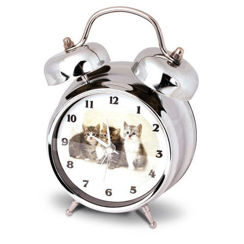 Kate Kitten / Cat Alarm Clock With Meowing Sound - 7 Inch