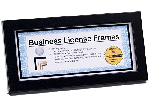 creativepf 4x9bk black business license certificate frames holds 4 b funstyling com creativepf 4x9bk black business license certificate frames holds 4 b funstyling com