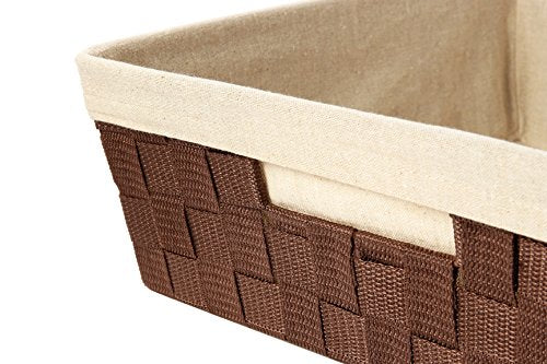 Towels Indoor//Outdoor Decorative Storage Perfect Size Stores Blankets Pillows Light Brown Pool Toys for Summer Swim Parties Abington Lane Square Water Hyacinth Storage Basket Bin