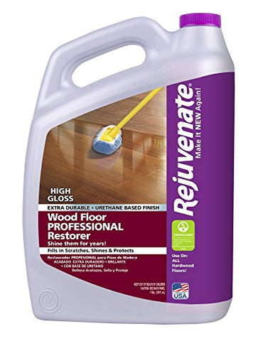 Rejuvenate Professional Wood Floor Restorer High Gloss Non-Toxic Easy Mop On Application 1 Gallon
