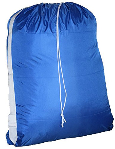 Large Laundry Bag With Adjustable Shoulder Strap, Commercial Grade 100% Nylon (30 X 40 Inches)