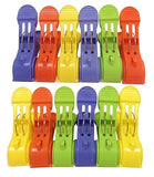 Attmu Beach Towel Clips , Towel Holder In Fun Bright Colors, Keep Towel From Blowing Away