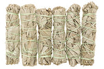 Premium California White Sage 4 Inch Smudge Sticks - 6 Pack. Alternative Imagination Brand.