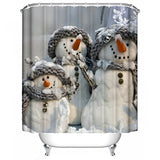 Junke Christmas Waterproof Polyester Bathroom Shower Curtain 180Cm180Cm (K)
