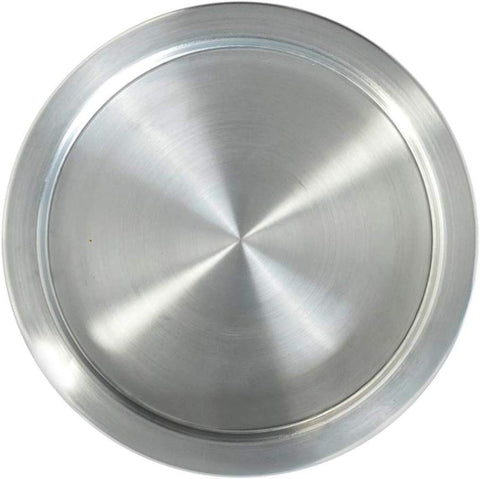 Kunefe Plate Large Size, 11 3/4 Inches (30 Cm) Diameter, Cooking And Serving Plates For Kunafa, Kataifi, Knafeh And Shredded Phyllo Dough, 1 Piece, Aluminum, Silver Color