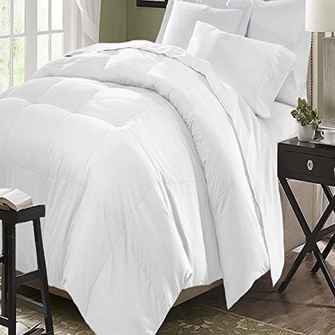 Blue Ridge Home Fashion Microfiber Down Alternative Comforter, King, White
