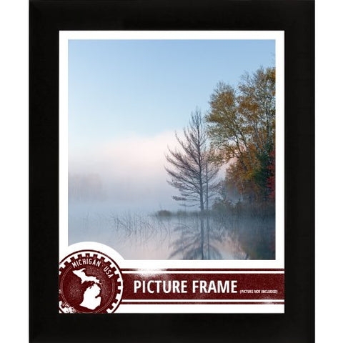 Craig Frames 1Wb3Bk 18 By 24-Inch Picture Frame, Smooth Wrap Finish, 1-Inch Wide, Black