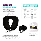 Cabeau Evolution Memory Foam Travel Pillow - The Best Neck Pillow With 360 Head & Neck Support, Grey