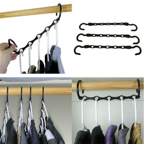 Household Mall Pcs 15 Inch Black Magic Hangers Closet Space Saving Wardrobe Clothing Hanger Oragnizer