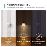 Eufy Lumi Stick-On Night Light, Warm White Led, Motion Sensor, Bedroom, Bathroom, Kitchen, Hallway, Stairs, Energy Efficient, Compact,