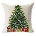 Gotd Merry Christmas Pillow Case Gifts Under Christmas Tree Xmas 18 X 18 Cushion Cover Merry Chritmas Home Decor Design Throw Pillow Cover Pillow Case 18 X 18 Inch Cotton Linen For Sofa (Gift A)