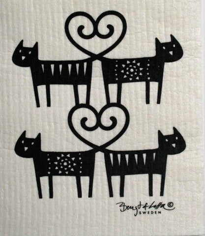 Swedish Dishcloth - Cat Lovers