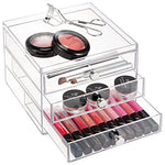 Interdesign Clarity Cosmetic Organizer For Vanity Cabinet To Hold Makeup, Beauty Products - 3 Drawer Slim, Clear