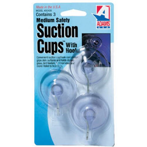 Adams Manufacturing 6500-74-3040 1-3/4-Inch Suction Cup Hook, Medium,
