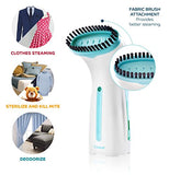 Bizond Mini Clothing Steamer For Garments, Fabric, And Draperies - Compact, Portable, Handheld For Travel And Home - No Spitting, Works At All Angles - Best Professional Iron Alternative, 6.5 Ft Cord