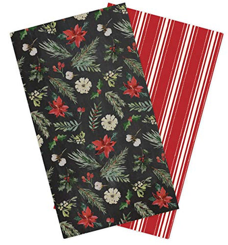 Carta Bella Paper Company Cbch89070 Christmas Travelers Notebook Insert -Blank Paper Red/Green/Black/Tan