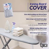 Epica Silicone Coated Ironing Board Cover Resists Scorching And Staining - 15X54