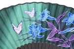 Amajiji 8.27(21Cm) Chinese/Japanese Design Silk Handheld Folding Fan For Girls Women (Nqe-05)