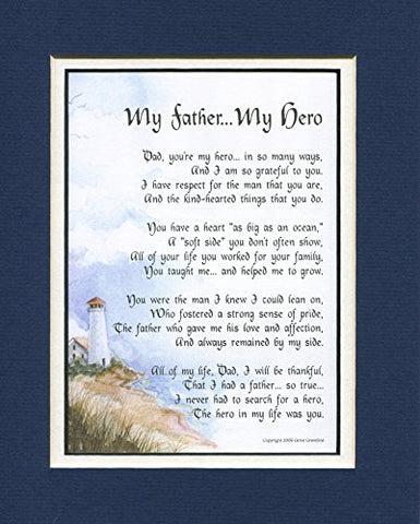 My Father My Hero, #18, A Father'S Day 60Th 70Th 80Th Birthday Gift For Dad Poem,